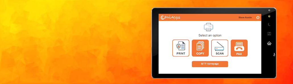 PriApps Print Copy Scan & Fax MFP Dashboard for Sharp OSA MFPs